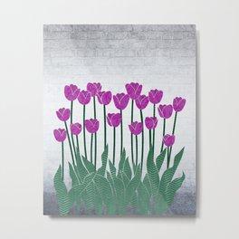 Magenta Tulips Metal Print