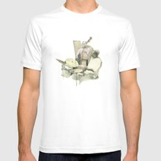 Jazz White SMALL Mens Fitted Tee