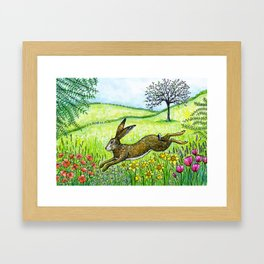 Leap into Spring Framed Art Print