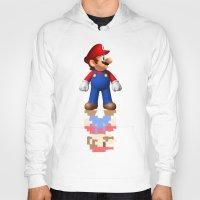 super mario Hoodies featuring Super Mario by idaspark