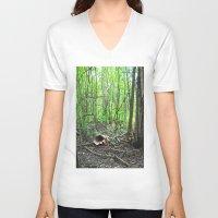 wonderland V-neck T-shirts featuring Wonderland by Darkest Devotion