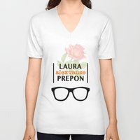 alex vause V-neck T-shirts featuring Laura Prepon | Alex Vause by Sandi Panda