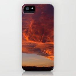 Desert Sky on Fire iPhone Case