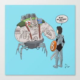 The Bitcoin Reddit Troll Canvas Print