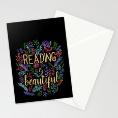 Reading is Beautiful - Gold Foil Stationery Cards