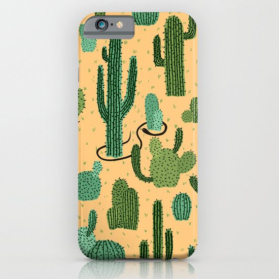 The Snake, The Cactus and The Desert iPhone & iPod Case