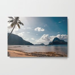 Tropical Beach Philippines Paradise Metal Print