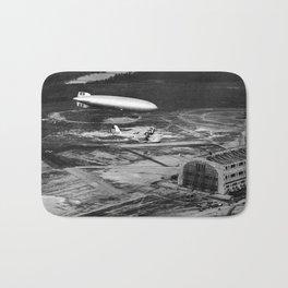 Zeppelin arrival over New Jersey Bath Mat