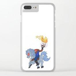 Headless Horseman Clear iPhone Case