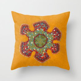Growing - Casuarina - plant cell embroidery Throw Pillow