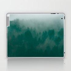Fog Forest - Dark Green Foggy California Woods Laptop & iPad Skin