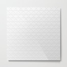 white grid Metal Print
