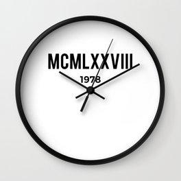 MCMLXXVIII | 1978 Birthday Shirt Wall Clock