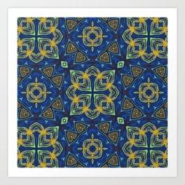 Golden Celtic Knots Art Print
