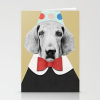 pooh Stationery Cards featuring Doggy Pooh the Clown by cafelab