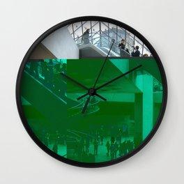 louvre glitch Wall Clock