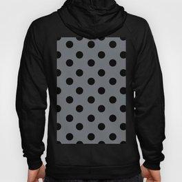 Grey & Black Polka Dots Hoody
