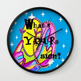 What's Your Sign? ASL FUN Wall Clock