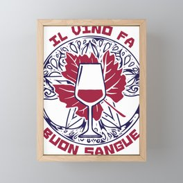 Il Vino Fa Buon Sangue Framed Mini Art Print