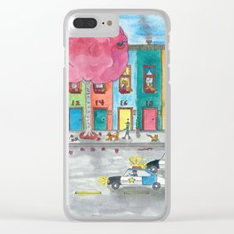 Happy Town III Clear iPhone Case