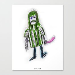 Green Poncho for Life Canvas Print