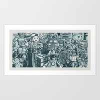 Back To The 80s Art Print