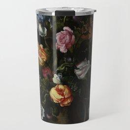 Jacob Vosmaer - A Vase with Flowers Travel Mug