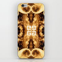 givenchy iPhone & iPod Skins featuring Givenchy antigona pouch with flames print by Le' + WK$amahoodT Boutique by Paynasa®