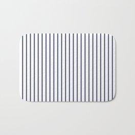 Posey Violet Thin Pinstripe on White Bath Mat