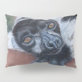 Lemur, black and white ruffed lemur Pillow Sham