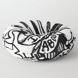 Stop And Ink About It Floor Pillow
