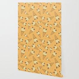Summer Ice Cream Cones Pattern Wallpaper