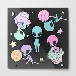 sugary ufo Metal Print