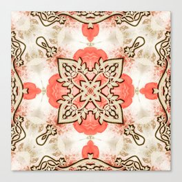 Kaleidoscope Guarded Rose Garden Print Canvas Print