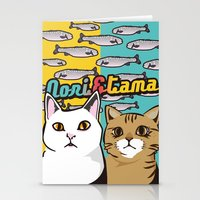 nori Stationery Cards featuring Nori&Tama by sol_pro