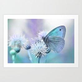 Butterfly blue 71 Art Print