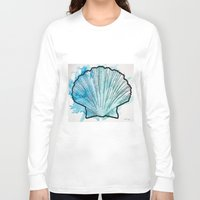 shell Long Sleeve T-shirts featuring Shell by Bryan McKinney