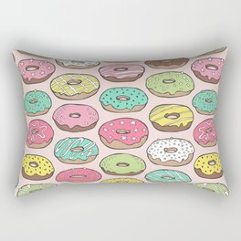 Donuts in Pink Rectangular Pillow