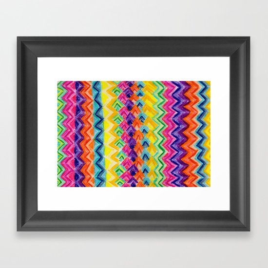 CRAYON LOVE: Cray Tribal Framed Art Print