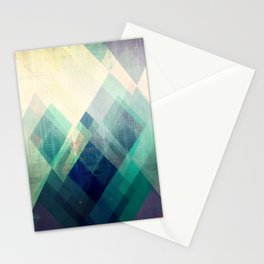 Mountains print, Abstract print, geometric wall art, abstract mountain, minimalist art, modern art, Stationery Cards