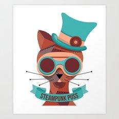 Steampunk Puss Art Print
