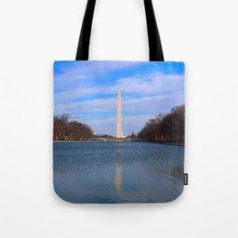 The Washington Monumet On Christmas Day 2017 Tote Bag