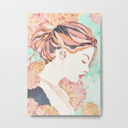 Daydream. Vintage nature illustration art. Metal Print