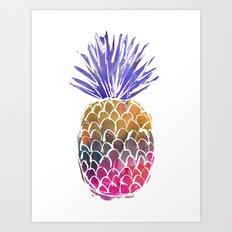 GoodVibes Pineapple Art Print