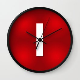 Red letter i Wall Clock