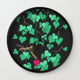 Sticking together Wall Clock