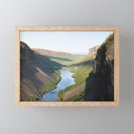 Canyon, Alta, Norway Framed Mini Art Print