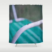 bug Shower Curtains featuring bug by Kalbsroulade