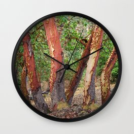 LOST IN MADRONA TREE WOODLAND Wall Clock