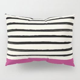 Raspberry x Stripes Pillow Sham